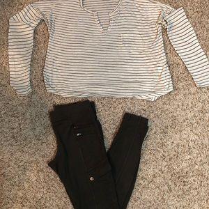 BP Shirt and Express Cargo Legging Combo